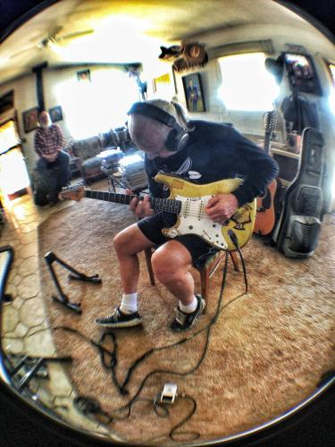 DickDale and Dave Catching at Rancho De La Luna Dark Brown session