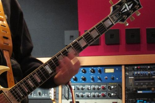 Ghost: Ghoul tracking guitar Blackbird Studio A