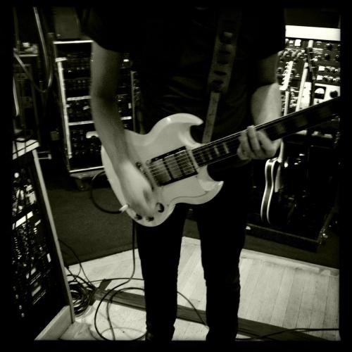 Ghost Ghoul tracking guitars at Blackbird Infestissumam