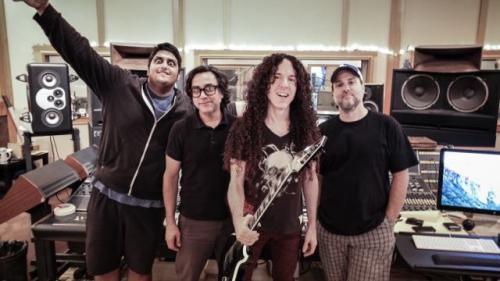 Marty Friedman and Anup Sastry at Studio 606 with Lou and FIG